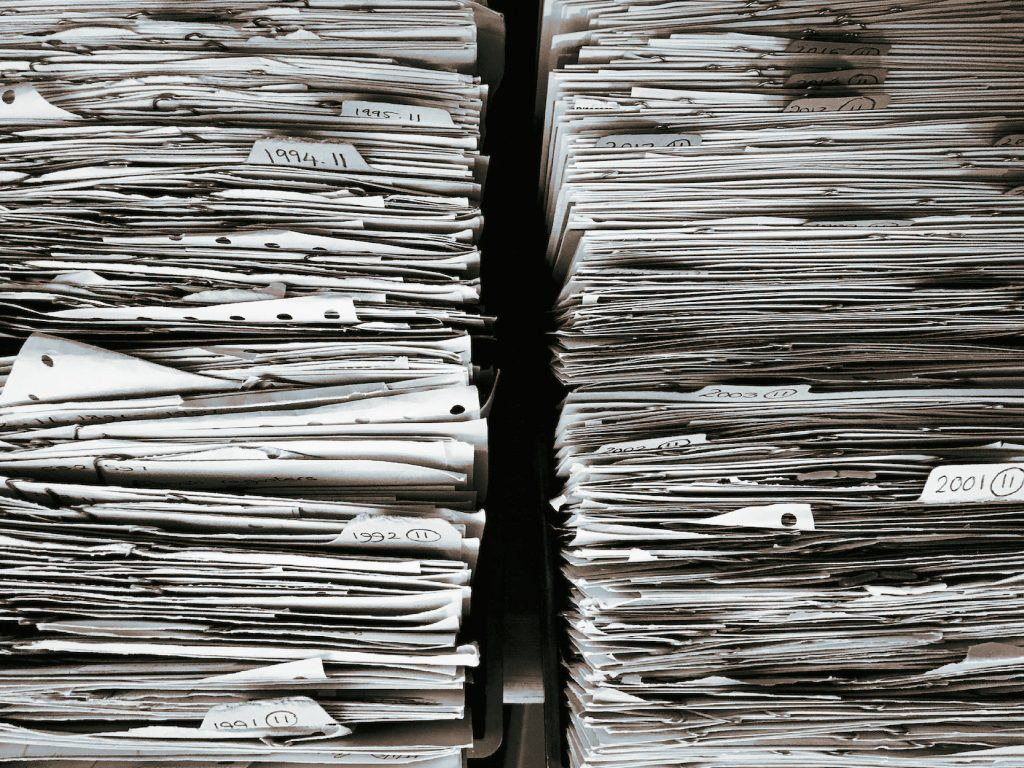 stacks of forms