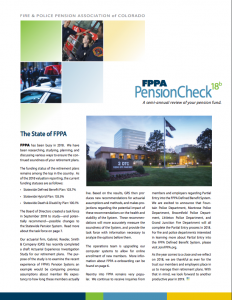 Cover page from the PensionCheck newsletter