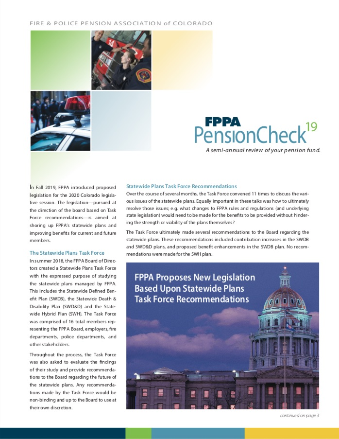 Front page of PensionCheck 19 newsletter