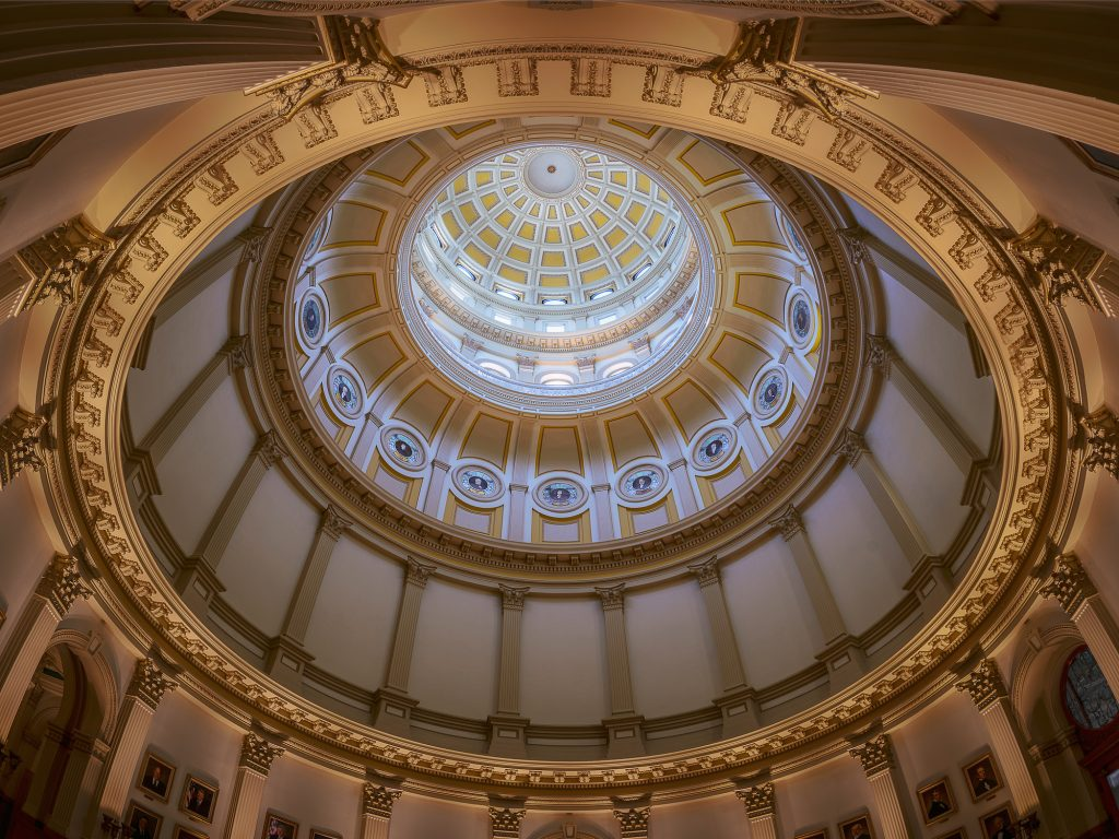 Colorado State Capitol Dome from underneath