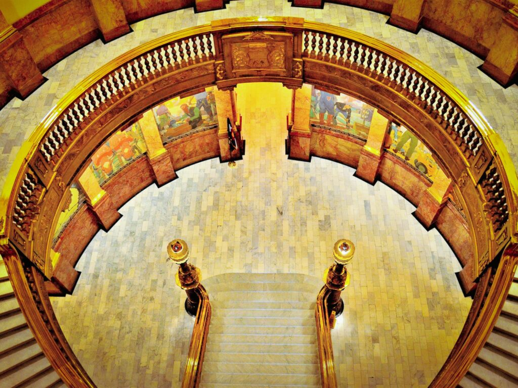 Colorado capitol rotunda from above. Editorial credit: Jim Lambert / Shutterstock.com