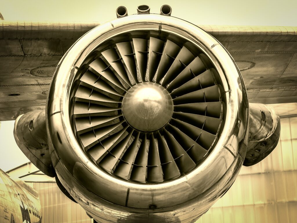 jet engine close up