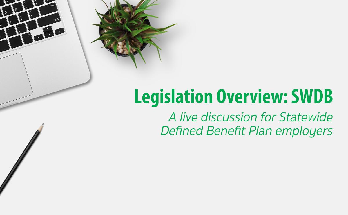 Legislation Overview: SWDB Employer header image. A computer and plant sit on a desk