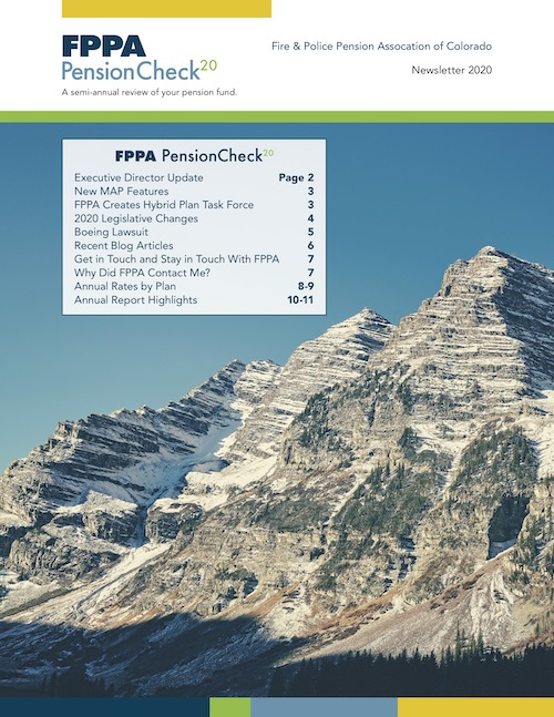 Cover page from PensionCheck 20